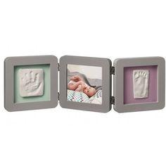 Cadre photo et empreinte bébé 3 volets de Baby Art Art Gris, Photo Halloween, Baby Art, Disney Babys, Triangle, Ebay, Album, Frame, Home Decor