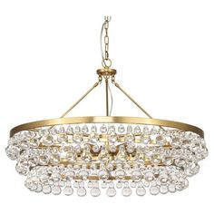 """Material: Glass Drops Finish: Antique Brass  <i><font color=""""red""""><u>*California, Oregon & Washington State Only:</u> Surcharge of $25.00 shows as """"Drop Ship Fee"""" on checkout page.</font></i>"""