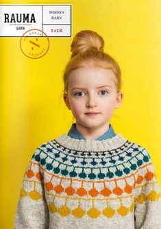 Design Barn 242R - YlloTyll Knitting For Kids, Free Knitting, Baby Knitting, Fair Isle Knitting Patterns, Knit Patterns, Knitted Baby Clothes, How To Purl Knit, Textiles, Couture