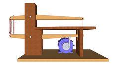 Sierra casera para calar madera planos y medidas