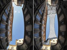 For Thomas Lamadieu the sky is a screen. This French photographer and illustrator has combined the two arts and uses the sky to create his illustrations