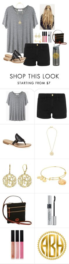 """""""-- errands ootd--"""" by smaryb ❤ liked on Polyvore featuring Organic by John Patrick, Frame, Jack Rogers, Tory Burch, Alison & Ivy, Alex and Ani, Dooney & Bourke, CamelBak, Christian Dior and Bobbi Brown Cosmetics"""