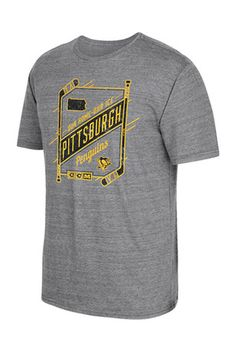 Reebok Pitt Penguins Mens Grey Our Home Our Ice Fashion Tee