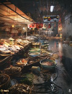 The Fish Market by NGUYỄN NGỌC LUẬN | Art | 3D | CGSociety