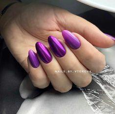 Round Shaped Nails, Short Round Nails, Violet Nails, Oval Nails, Almond Nails, Nails On Fleek, Nails Inspiration, Nail Colors, Purple