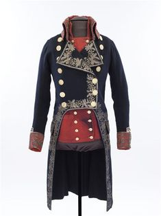 Divisional general coat and vest, 19th century