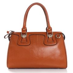 snake pattern gorgeous satchel bag