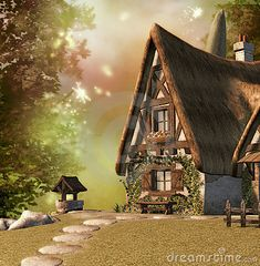 Fairy Cottage by Leeloomultipass, via Dreamstime