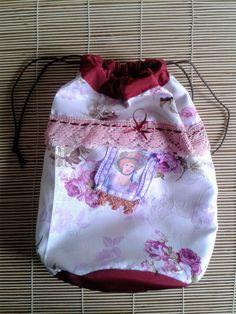pajamas bag bolsa para pijama schlafanzug por ShabbyChicVintageBag