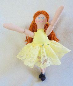 Redhead Ballerina Doll  OOAK Handmade Doll by JoellesDolls on Etsy, $30.00