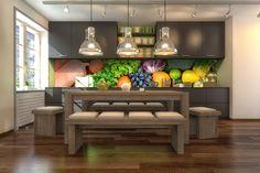 Kuchnia owocowo-warzywna - jak Wam się podoba? http://www.fototapeta24.pl/ #kuchnia #kitchen #kitchendesign #kitchenideas #fototapeta #fototapeta24pl