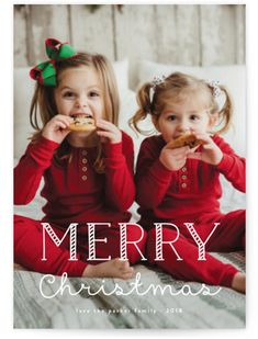 Minted Photo Holiday Cards By Candy Cane Merry Holiday Cards Holiday Sibling Christmas Pictures, Toddler Christmas Photos, Family Christmas Pictures, Holiday Pictures, Christmas Baby, Pictures With Santa, Xmas, Christmas Minis, Christmas Parties