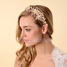 Luxury Gold Jewelry Tiara Crown Headband Wedding Party Headpiece Hair Accessory | eBay