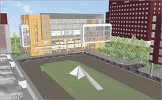 John Hopkins New Medical Education Building - Aerial View