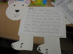 Polar bear crafts for kids 1st Grade Writing, Kindergarten Writing, Literacy, Winter Fun, Winter Theme, Winter Ideas, Classroom Fun, Classroom Activities, Polar Animals