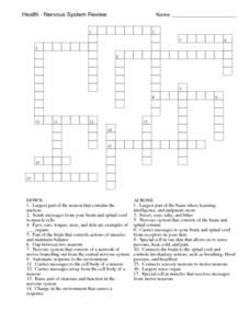 Cell Structure and Function Crossword Worksheet | Hot Resources ...