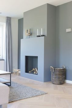 Woonkamer: ontwerp, ideeën, inspiratie en foto& & # s Home Fireplace, Home And Living, House Interior, Home Living Room, Home, Interior Design Living Room, Interior, Home Deco, Home Decor