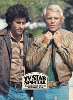 Paul Michael Glasser and David Soul of Starsky and Hutch, 1978