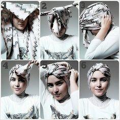 another simple turban tutorial Hijab Tutorials