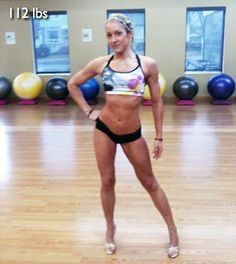 This girl has a GREAT diet and exercise plan. Her exercise routine is almost exact to mine. And don't be afraid to go HEAVY! Women don't have the genetics to get big. Look how little she is. Women shrink up the cleaner we eat and heavier we go :) LOVE it!