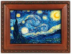 Starry Night Music Box in Woodtone