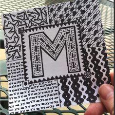 @melissaZD    Day 5. Sharpie monogram doodle. #30DoC @createstuff