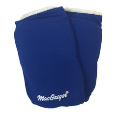 """MacGregor Junoir Adult Field Court Volleyball Knee or Elbow Pads 13"""" to 16"""" (Blue)"""