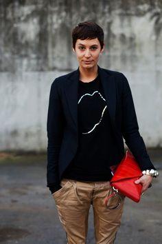 On the Street……Lips, Paris « The Sartorialist