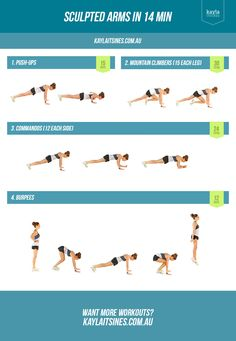 Sculpted arms and abs! Lean In 14! Need to do this every morning and every night before bed!! — Kayla Itsines