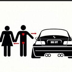 Ahhhh ..... Love ..... Funny - love - marriage - wedding - bimmer - BMW - m3 - m5 - e46