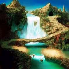 The Waterfall temple _Chrono Cross
