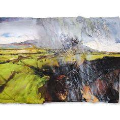 David Tress Fields Under Garn Fawr Mixed Media on Paper 42 x 59
