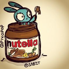 Limited Edition Nutella Bunny by Ali Sabet / Signed by pixopopshop, $75.00