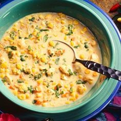 Sweet Corn and Vegetable Chowder - low fat, high carb, vegan, no oil