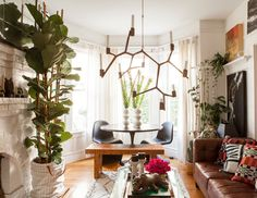 Lawyer turned wallpaper maven Christiana Coop created a home where style roams free and the walls are wild