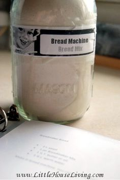 How to make your own homemade mix for bread for your bread machine! This recipe makes enough to make 4 loaves of bread and is so easy to use to make quick, fresh homemade bread without any work!