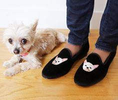 Ella Bean in M'O Exclusive Custom Dogs by Del Toro loafers