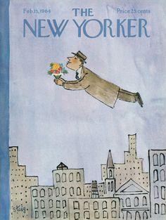 William Steig : Cover art for The New Yorker 2035 - 15 February 1964