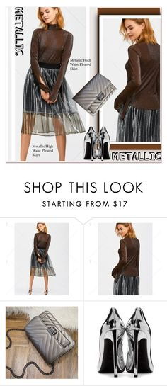 """""""of metallic-up"""" by paculi ❤ liked on Polyvore featuring Yves Saint Laurent"""