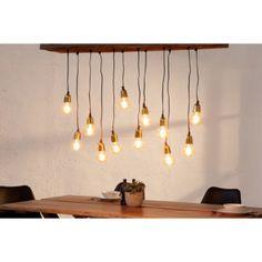 Visiaca lampa BARACUDE 125 cm - prírodná