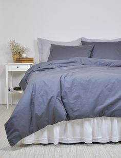 dark grey duvet cover set full queen king pure cotton bedding solid color bed