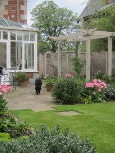 Pergola - in a North Berwick garden designed by Goose Green design