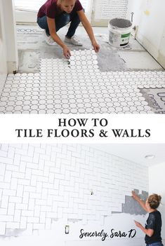 Bathroom Remodel Week 3 | How to Tile Floors & Walls - Sincerely, Sara D.