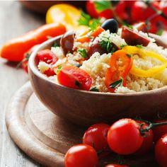 Cous-cous integrale con merluzzo e verdure