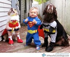 Super heroes - Tristan, Jack, and Blanca! Yes!