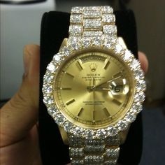 Gorgeous, gold & diamonds Rolex watch