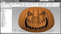 This is what happens when somebody challenges me to a duel. A friend of mine in our AEC division asked me if Inventor could make a pumpkin, and make it param. Autodesk Inventor, Cad Software, Autocad, Pumpkin Carving, Division, Happy Halloween, Challenges, Tutorials, 3d