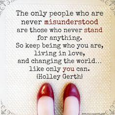 Keep standing in love