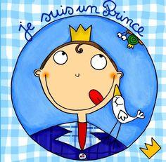 """keladeco.com - #tableau deco #enfant """"je suis un Prince"""", idée cadeau naissance garçon"""