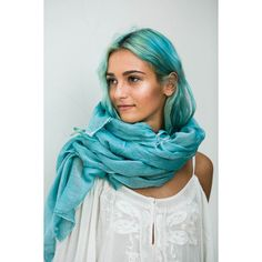 Turquoise Scarf Extra Long Cotton Scarf Beach Sarong Pareo Summer... ❤ liked on Polyvore featuring accessories, scarves, extra long scarves, turquoise shawl, turquoise scarves, summer shawl and beach scarves
